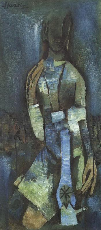 Maqbool Fida Husain-The Lady and the Lamp-1957
