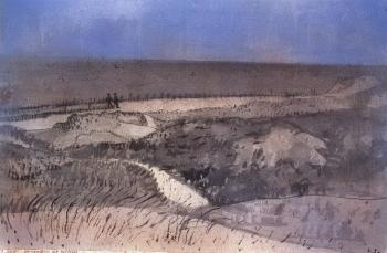 Paul Klee-Befestigte Dune auf Baltrum-1923