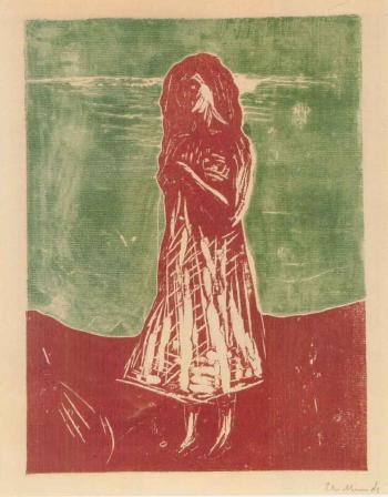 Edvard Munch-Junge Frau am Strand-1912