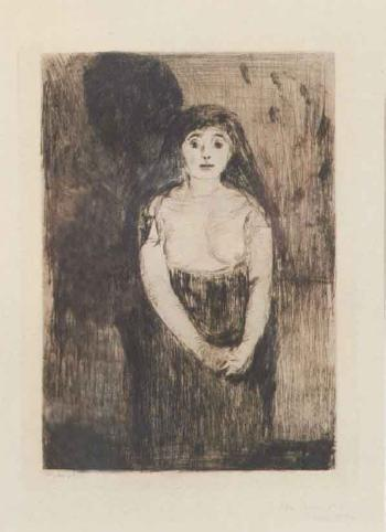 Edvard Munch-Modellstudie / Study of a Model-1894