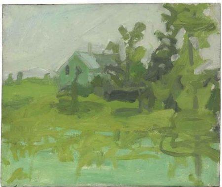 Alex Katz-Landscape with House-1950
