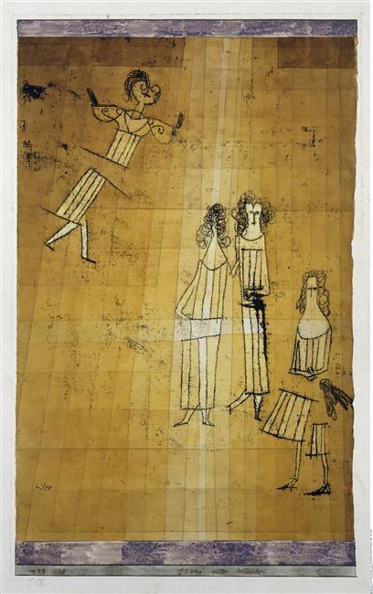 Paul Klee-Scene Unter Madchen (Scene Among Girls)-1923