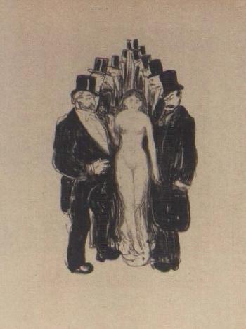 Edvard Munch-The Alley / Die Gasse (Schiefler 36; Woll 43)-1897
