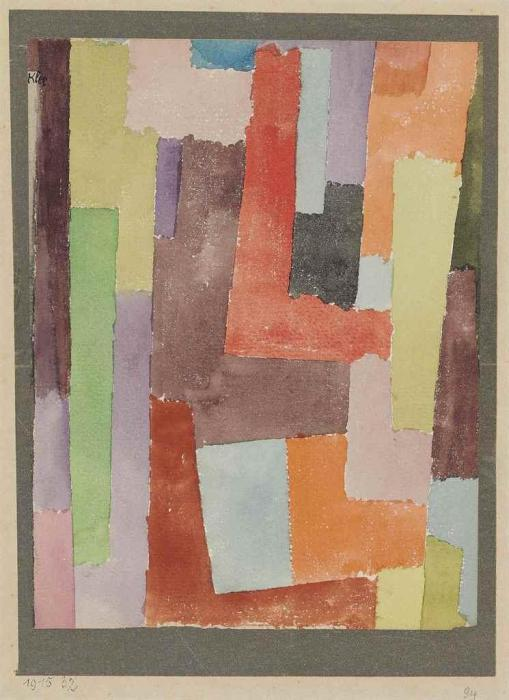 Paul Klee-Rechte Winkel, 4 Seitiger Silberrand (Right Angles, Silver Border On 4 Sides)-1915