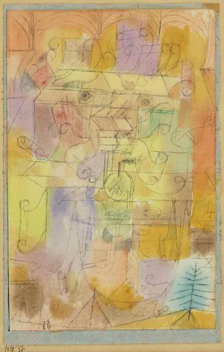 Paul Klee-Unvollendete Landschaft Coelinblau Gefasst (Unfinished Landscape Framed In Cerulean Blue)-1918