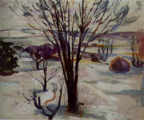 Edvard Munch-Winterlandschaft in Jeloya-1912