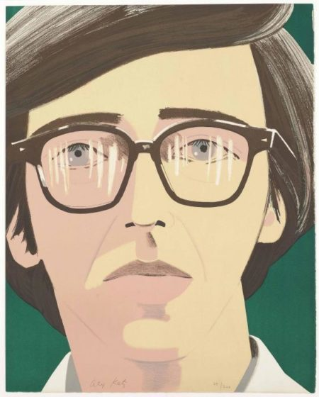 Alex Katz-Portrait of a Poet: Kenneth Koch (Maravell 33)-1970