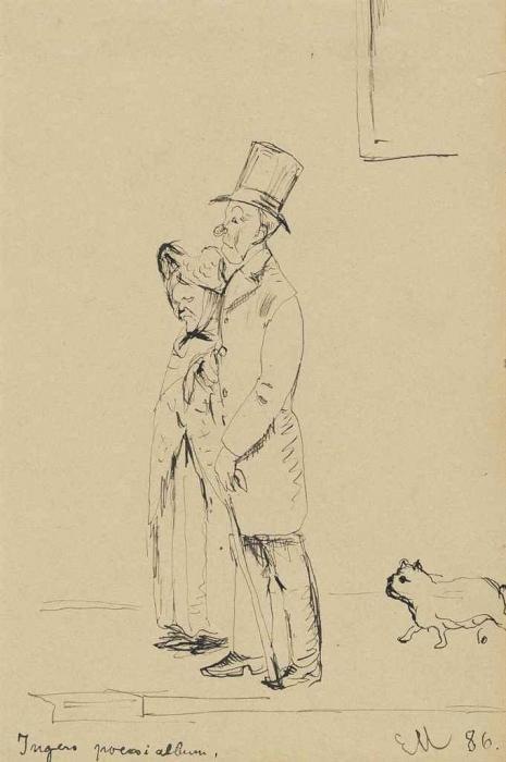 Edvard Munch-Couple with Dog-1885