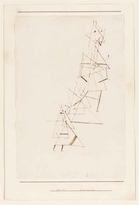 Paul Klee-Klein und Gross (Small and Large)-1929