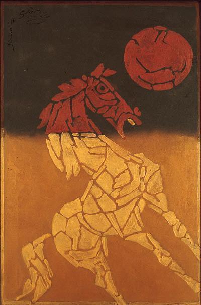 Maqbool Fida Husain-Horse-1979
