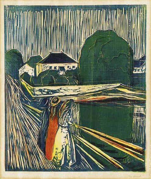 Edvard Munch-Girls on the Bridge / Madchen auf der Brucke / Pikene pa Broen-1920