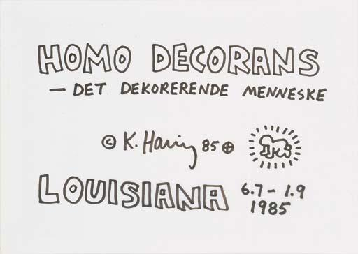 Keith Haring-Keith Haring - Homo Decorans, det dekorerende mennske-1985