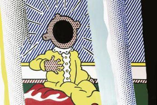 Roy Lichtenstein-Collage for Reflections on the Scream-1989