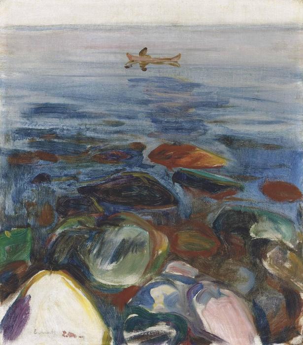 Edvard Munch-Robat pa Sjoen-1904