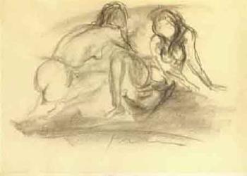 Lucio Fontana-Due donne-1965