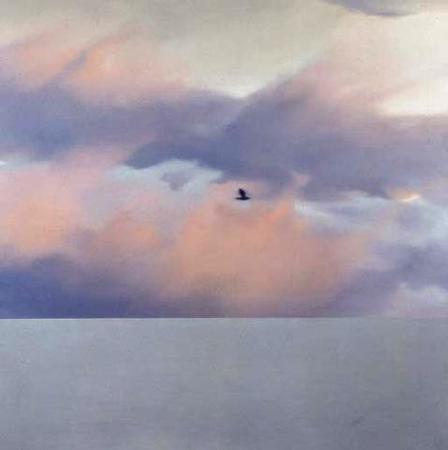 Gerhard Richter-Seestuck mit Vogel (Seascape with Bird)-1970