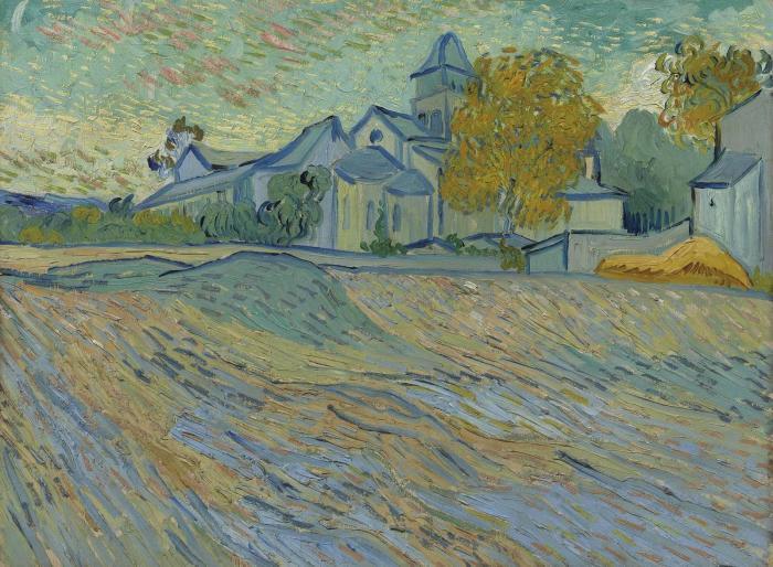 Vincent van Gogh-Vue de l'asile et de la Chapelle de Saint Remy-1889