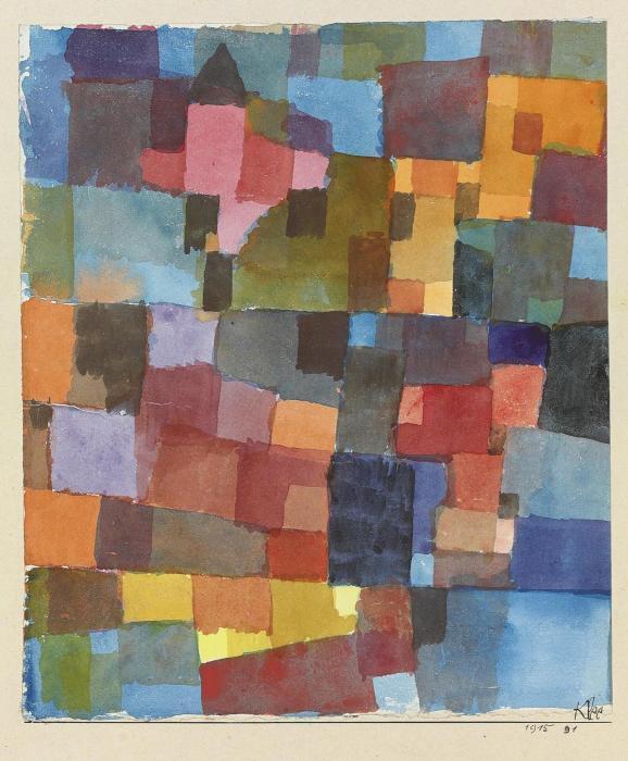 Paul Klee-Raumarchitekturen (Auf Kalt-Warm)-1915