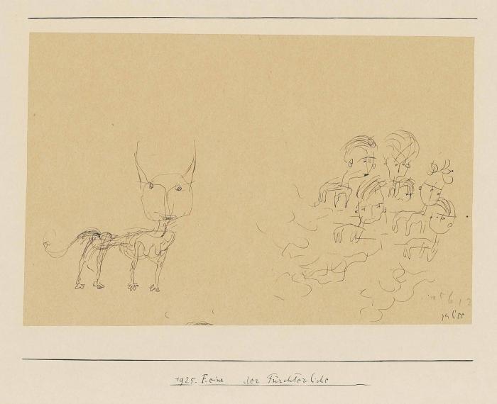 Paul Klee-Der Furchterliche (The Terrible One)-1925