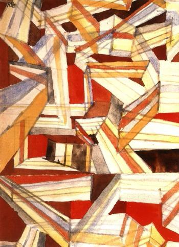 Paul Klee-Transparent-Perspectivisch Gefugt (I)-1921
