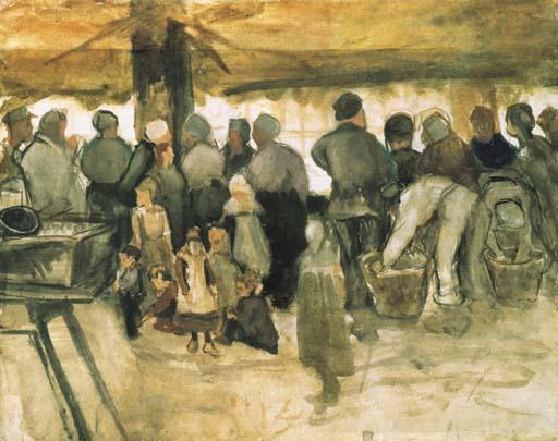 Vincent van Gogh-The Potato Market-1882