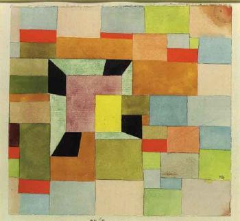 Paul Klee-Aufgeteilte Farbvierecke-1921