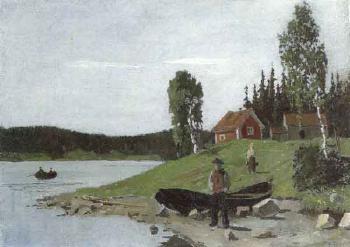 Edvard Munch-Seelandschaft (Maridalsvannet?)-1881