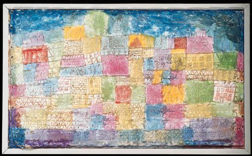 Paul Klee-Bunte Landschaft-1928