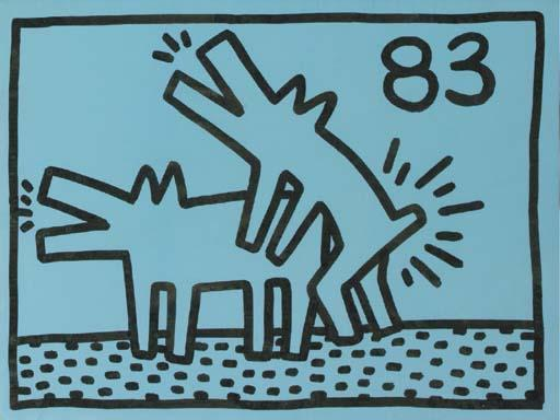 Keith Haring-Keith Haring - Two Dogs-1983