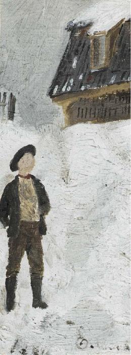 Edvard Munch-Boy in a Snowy Landscape (Gutt I Snolandskap)-1881
