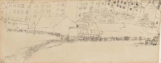 Paul Klee-Vorstadt Bei Kastanienblute-1913