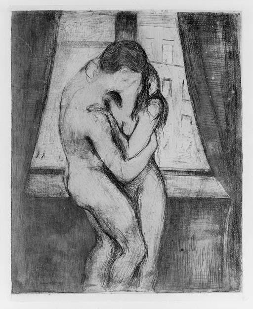 Edvard Munch-Der Kuss / Kyss / The Kiss (Schiefler 22; Willoch 22)-1895