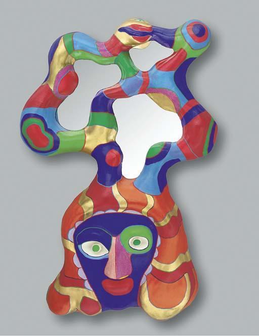 Niki de Saint Phalle-Visage aux miroir-1982