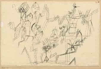 Paul Klee-Metaphysisches Blatt Aus Der Vogelwelt-1917