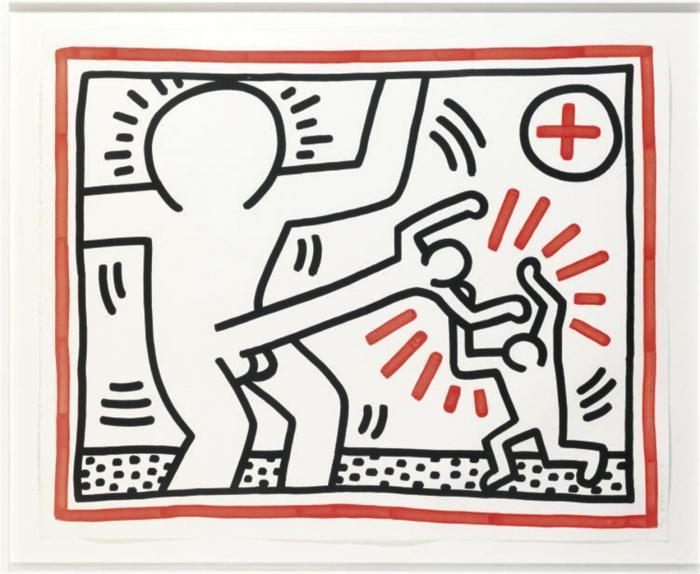 Keith Haring-Keith Haring - One plate, from Three Lithographs-1985