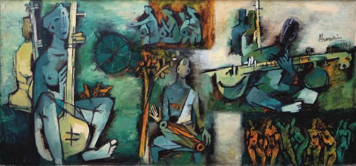 Maqbool Fida Husain-Ragamala Series-1960