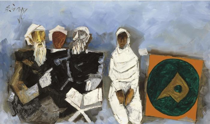 Maqbool Fida Husain-The Preacher at Mecca-