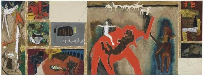 Maqbool Fida Husain-Untitled-1956