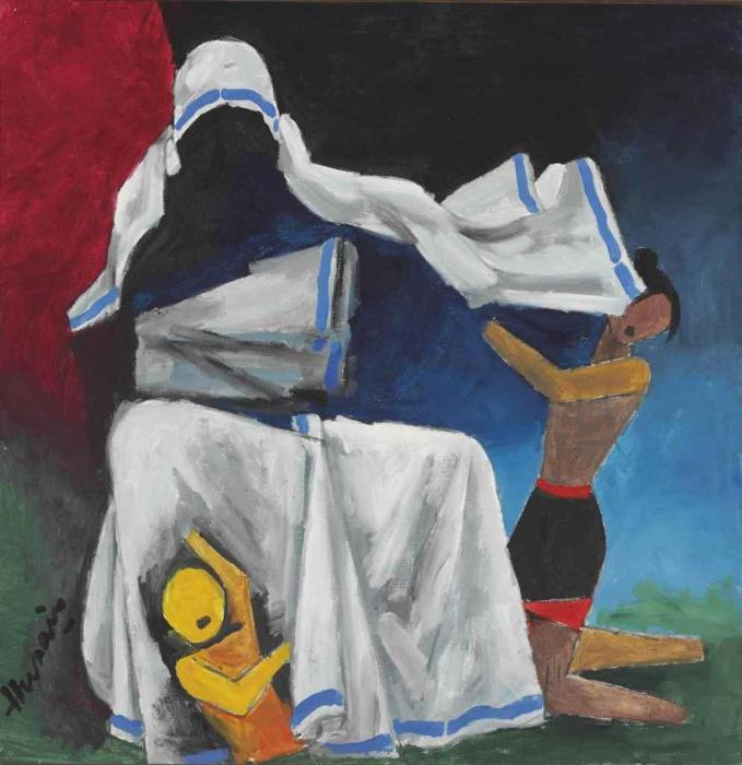 Maqbool Fida Husain-Untitled (Mother Teresa)-1980