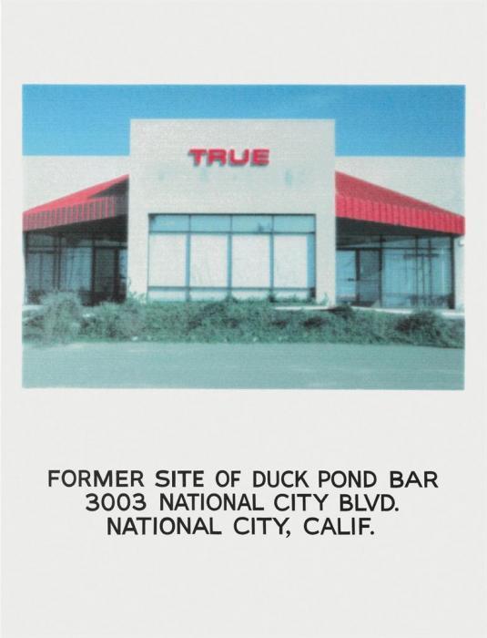 John Baldessari-Former Site of Duck Pond Bar 3003 National City Blvd National City, Calif-1996