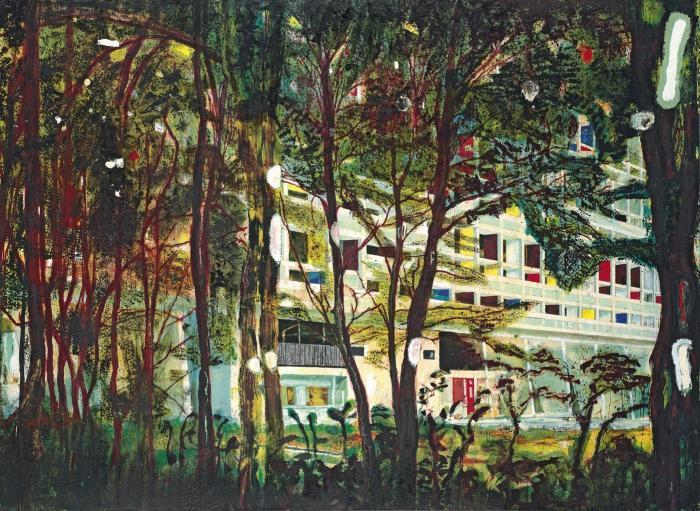 Peter Doig-Concrete Cabin West Side-1993