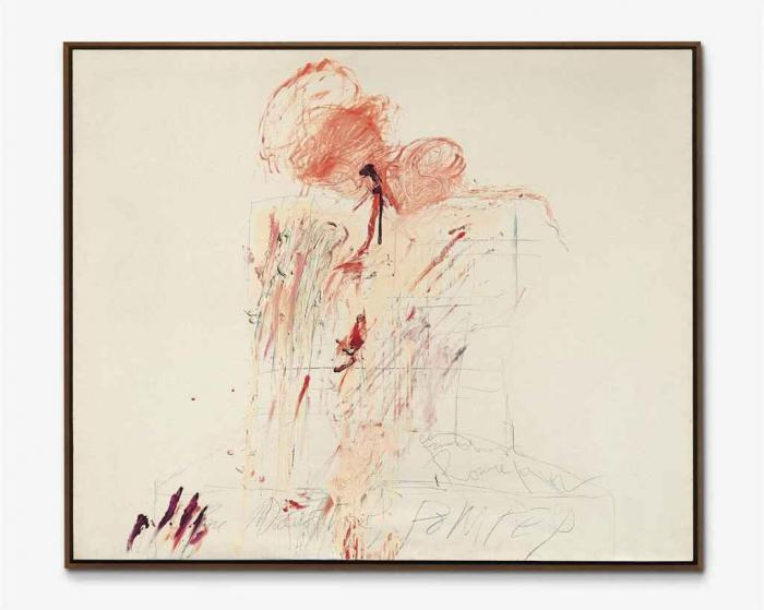 Cy Twombly-Death of Pompey (Rome)-1962