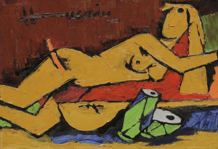 Maqbool Fida Husain-Untitled (New Delhi Suite)-2003