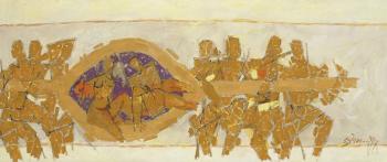 Maqbool Fida Husain-Untitled (Wedding Chariot)-1971