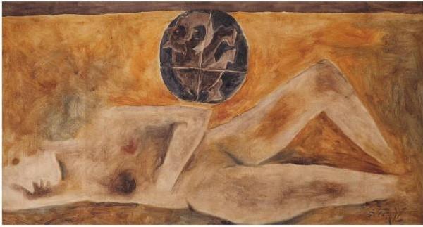 Maqbool Fida Husain-Untitled (Maya)-