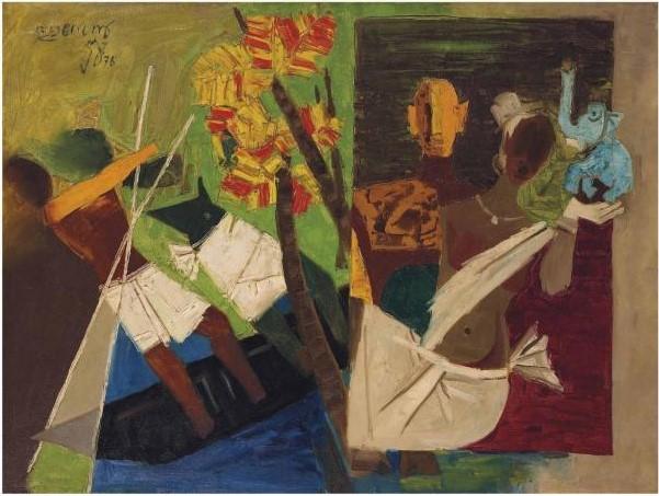Maqbool Fida Husain-Untitled (Kerala)-1976