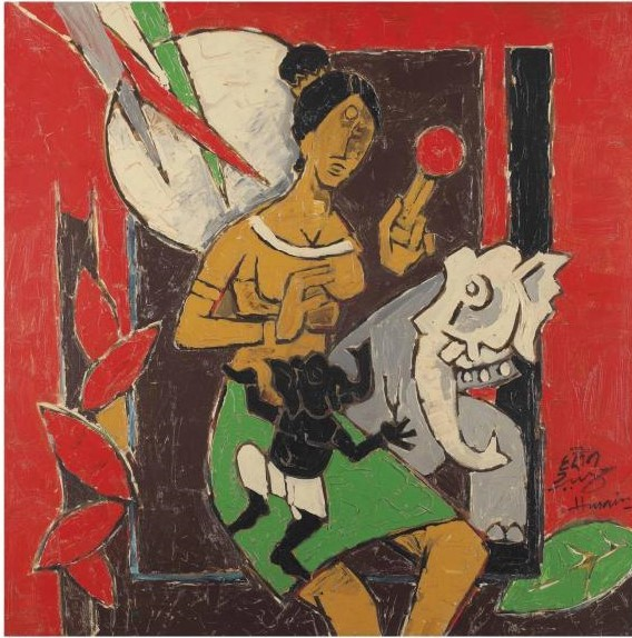 Maqbool Fida Husain-Untitled (Ganesh Janani)-