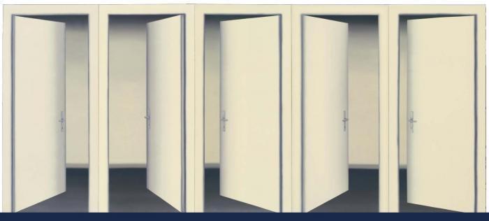 Gerhard Richter-5 Turen II (5 Doors II)-1967