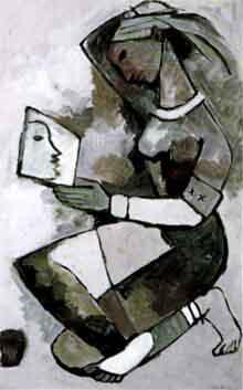 Maqbool Fida Husain-Reflections-1954