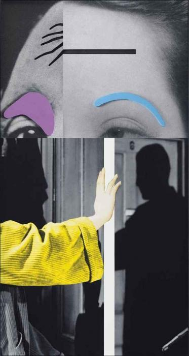 John Baldessari-Raised Eyebrows / Furrowed Foreheads: Arm (with Shadow)-2009